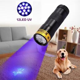 Alonefire 12 LED UV flashlight 395-400nm UV LED Torch , UV LED flashlight