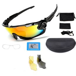 Outdoor Sports Glasses Fashion Cycling Sunglasses Tactical Glasses Three Lens Changeable Sunglass Fashion Cycling Sports Glasses