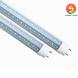 T8 LED Tubes light V-Shape both sides 4ft 28w 1.2m G13 LED fluorescent light AC85-265V CE UL RoHS QA wholesale