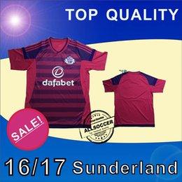 2017 camisetas de fútbol de color rosa De calidad superior 2016 Sunderland Soccer Jersey de distancia de color rosa Soccer Jersey 16/17 Sunderland Fútbol Camisetas de calidad tailandesa Jeresys camisetas de fútbol de color rosa baratos