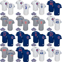 Wholesale NEW Men World Series Champions Chicago Cubs Kris Bryant Javier Baez Anthony Rizzo David Ross Jake Arrieta baseball jersey