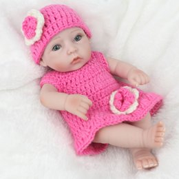 28cm Realistic Reborn Baby Girl Doll Soft Silicone Vinyl Newborn Baby Kids Birthday Present Gift Toy