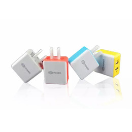 Colorful Square 5V 2.1A Dual USB US Charger Charging Adapter For Samsung Any Phone Tablet Computer Free Shipping With DHL