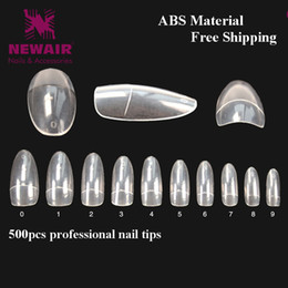 Wholesale False Nails Oval French Fake Nails Short Clear Half Cover Nail Decorated ABS Beauty Nail Tips Manicure Accessories