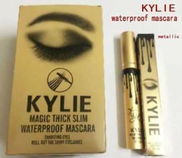 Wholesale Kylie Jenner Magic thick slim waterproof mascara Black Eye Long Eyelash Charming eyes roll out the shiny eyelashes Cosmetic Gold Birthday