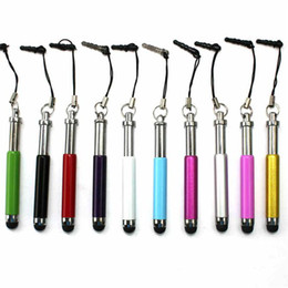 Retractable Metal Capacitive Screen Stylus Pen Touch Pen With Anti-Dust Plug For Mobile phone