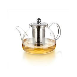 Wholesale Taza de té de gran capacidad De grado alimentario de té de vidrio té burbuja Filtro de acero inoxidable genuina ml tetera