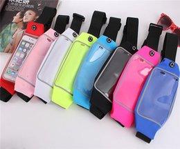 Screen Touch PVC Waist Bag Customized Waterproof Waist Pouch Running Waist Belt For iPhone 7 7 Plus