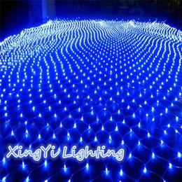 Acheter en ligne Rgb led net-Vente en gros-3M x2M 210 LED Fairy String Xmas arbre rideau de rideau de plafond mur de la fenêtre de la maison Net Light Festival Décoration de Noël