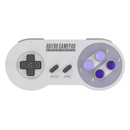 Joystick inalámbrico androide online-Hot 8bitdo SNES30 inalámbrico Bluetooth controlador remoto Snes Game Gamepad control joystick para Android IOS Windows MacOS PC