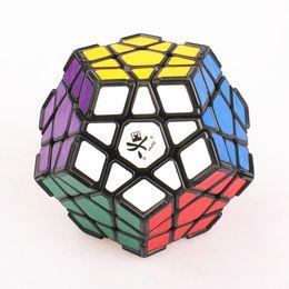 Descuento dayan juguete DaYan Megaminx Magic Puzzle Cube Profesional Negro Twisty Puzzle Cube Juguetes con Corner Ridges