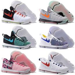 Acheter en ligne Kd chaussures de vente mens-2016 Hot Sale KD 9 oiseau de Paradis chaussures de basket-ball pour hommes KD9 Kevin Durant 9s chaussures de sport d'entraînement Taille de la maison 7-12