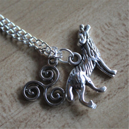20pcs Teen Wolf Inspired Hale Pack necklace Vision 2 jewelry silver antique jewelry