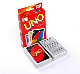 Juegos para niños en Línea-Stock listo 50 juegos UNO tarjeta de póquer estándar de la familia de la edición entretenimiento divertido juego de tablero Niños divertido juego de puzzle Por DHL