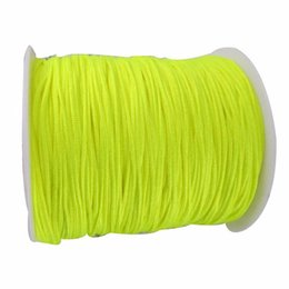1mm Neon Yellow Rattail Satin Braid Nylon Cord+350m Jewelry Accessories Thread Macrame Rope Shamballa Bracelet Beading String