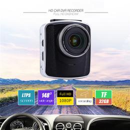 Compra Online Cámaras de lentes de porcelana-Nuevo registrador de la cámara del coche DVR pantalla de 2.7 pulgadas 1080P HD LTPS Batería de litio incorporada 148 grados Cámara de gran angular del lazo que registra