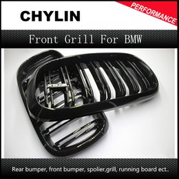 1 Pair New 2014 + X5 X6 F15 F16 M Sport design abs material kidney car front grill for BMW xdrive vehicle front bumper grille