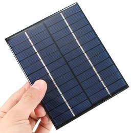 Оптово Высокое качество модуля 12V 2W 160mA Поликристаллический кремний Мини-панель солнечных батарей ячейка для 136x110mm DIY Зарядное устройство DC батареи от Производители панели солнечных ячеек оптового