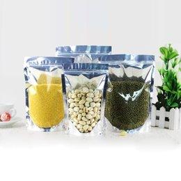 Los 15cm * los 22cm + los 4cm pluma de aluminio plástica resellable del sello de calor del grado alimenticio se levantan bolso de la bolsa con la bolsa de empaquetado de la cremallera bolsa desde bolsas de embalaje reutilizables proveedores