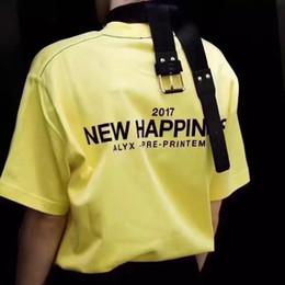 Asian Size 2017 SS ALYX Alix Basic New Happying T Shirts Men Women Streetwear 100% Cotton Fire Green Energy Tee Casual ALYX Alix T-shirts