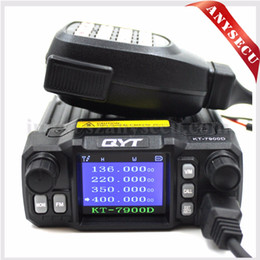 2017 quad lcd Vente en gros Quad Band Radio mobile QYT KT-7900D Quad Display 144/220/350 / 440MHZ 25 Watt Transceiver Grand écran LCD KT7900D Walkie talkie quad lcd promotion