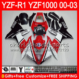 8Gift 23Color Body For YAMAHA YZF1000 YZFR1 02 03 00 01 YZF-R1000 62HM6 YZF 1000 R 1 YZF-R1 YZF R1 2002 2003 2000 2001 Fairing Hot Red black