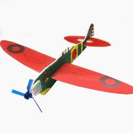 2017 planeadores de bricolaje Venta al por mayor-4Pcs / Set DIY bebé niños Mini espuma hecha a mano de vuelo aviones avión planeador educativo niños Puzzle modelo juguetes regalos planeadores de bricolaje en venta