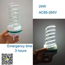 LED Spiral shaped corn light 85-265V 24W glass rechargeable emergency tube lights