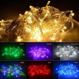 US EU plug 10M 20M 30M 50M 100M Xmas LED String light 110V 220V IP67 color RGB Christmas String Light outdoor indoor waterproof