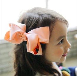 Fille accessoires pour cheveux clips à vendre-Accessoires pour cheveux pour enfants filles big BOWS épingle à cheveux princesse cheveux de haute qualité clips de cheveux style coréen Tose en tissu pour fille T0672