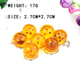 Wholesale Seven Dragon Ball Keyrings Beautiful Fashion Metall Yellow Round Key For Men Women Automotive cessories