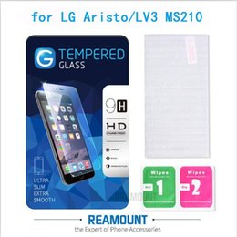 2.5D 9H Hardness Protective Film Dustproof Screen Protector Guard for LG Aristo LV3 MS210 Toughened Protector Screen with High Class Packagi