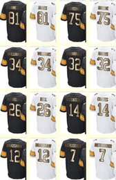 Wholesale 2017 Gold Collection Men s Greene James Williams Bell Franco Harris Bradshaw Roethlisberger Coates White Black jersey