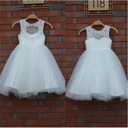 New Arrival Real Flower Girl Dresses Keyhole Communion Party Pageant Dress for Little Girls Kids Children Dress for Wedding