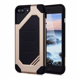For Apple iPhone 7 Plus Samsung S8 Plus S7 Edge 2 in 1 Anti-Fall Protection Shockproof Armor Hard TPU PC Cellphone Cover Cases