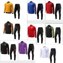 Wholesale Mixed order PSG AC Inter Milan Juventus Barcelona new so team survetement jerseys winter jacket set High quality