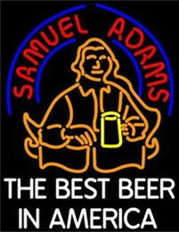 Wholesale Sam Adams Americas Best Beer Neon Sign Custom Handmade Real Glass Store Bar KTV Club Motel Advertising Display Art Neon Signs quot X24 quot