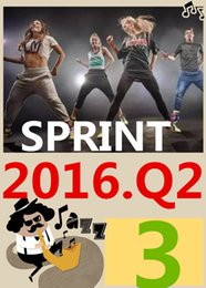 ON Top Free Shipping 2016.4 Q3 New Routine SPRINT 03 HIIT 30 Minutes Exercise Fitness SPRINT03 DVD video + CD music