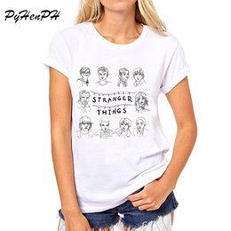 Wholesale PyHen New Stranger Things T Shirt women Short Sleeve tops tee shirt female sumer t shirt american apparel