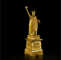 Wholesale Microworld D Metal Puzzle America Statue of Liberty Architectural Russia The Church of the Transfiguration Building Model DIY Assemble Toy