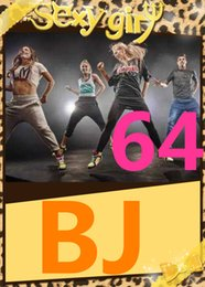 on Hot Sale New Routine Course BJ 64 Aerobics Fitness Exercise Comprehensive Latin Hip hop Dance BJ64 Video DVD + Music CD Free Shipping