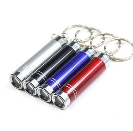 Wholesale Best Portable Mini LED Flashlight Keychain Aluminum Alloy Torch with Carabiner Ring Keyrings LED mini Flashlight Mini light JF