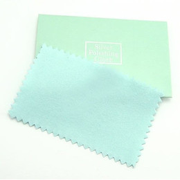10pcs lot Silver Jewelry Cleaning Polishing Cloth For 925 Silver Jewelry Gift 6x10cm CL2 Free Shipping