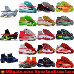 Wholesale Bottes de football pour hommes Neymar Hypervenom Phantom JR Magista Obra Mercurial x EA SPORTS Superfly CR7 FG Soccer Cleats High Ankle Soccer Shoes