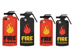 Wholesale 3D Fire extinguishers Cellphone Covers Pattern Soft Silicone Case For iPhone Plus S I7 inch Cartoon Fashion Rubber Skin Cover