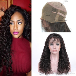 High Quality cheap Full Lace Human Hair With Baby Hair 130% Density Deep Wave Remy Hair Wig With Natural Hairline Wigs Free Shipping