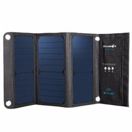 Панель зарядное устройство Оптово-BlitzWolf Новый 20W 3A Портативный Складная солнечных батарей Power Bank POWERBANK USB Solar С Power3S SunPower от Производители панели солнечных ячеек оптового
