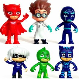 7.5-9.5cm 2017 PJ masque PVC action figure collection modèle de jouets pour enfants enfants jeux vidéo cadeaux de Noël 6pcs / lot PX-D06 à partir de enfants jeux vidéo fabricateur