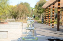 Wholesale Sublime Green Wake Bake New Bongs Glass oil rigs incycler water pipes with matrix stereo perc
