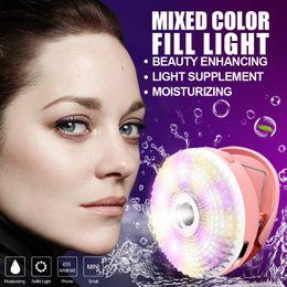 Wholesale Beauty in LED Selfie Ring Light with Face Moisturizing Humidifier RK15 Diamond Selfie fill spot light RK Spray Mist Mobile phone Clip
